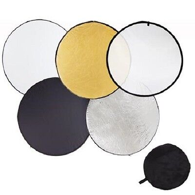 Pro Studio 24-inch / 60cm 5-in-1 Collapsible Multi-Disc Light Reflector Bag