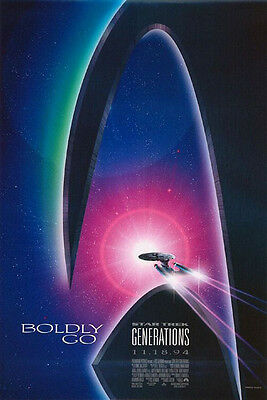 Star Trek : Generations Advance Single Sided Original Movie Poster 27x40 inches