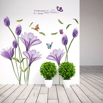 Removable Art Vinyl Quote DIY Lily Wall Sticker Decal Mural Home Room Décor