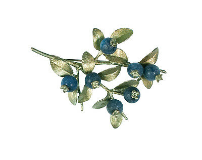 Blueberry Brooch Pin by Michael Michaud for Silver Seasons 5666BZBC