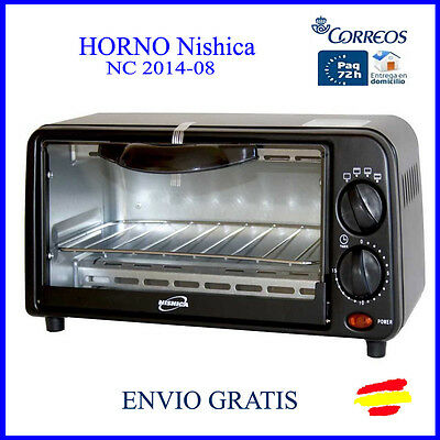 HORNO ELECTRICO portatil NISHICA  6L. 650W Temperatura Regulable 100-250º
