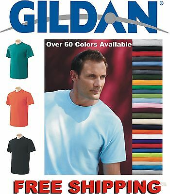 100 Gildan T-SHIRTS BLANK BULK LOTS Colors or 100 White Plain Wholesale 50