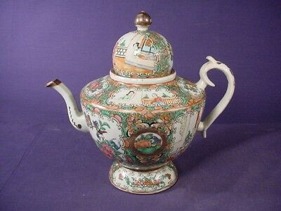 Antique 19th Century Chinese Rose Medallion Teapot