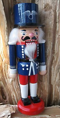 Vtg Patriotic Red White Blue Soldier Nutcracker Christmas Holiday 9""