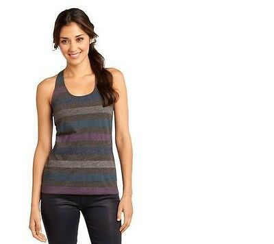 District women's Juniors Reverse Striped Scrunched Back Tank DT229