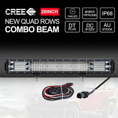 9 inch 9990W CREE Round Spot LED Driving Lights Bar Off Road Work Spotlights