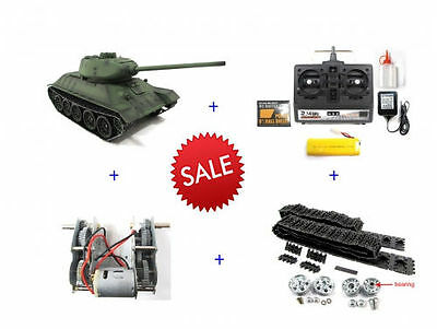 Henglong 1:16 R/C S&S 2.4G Russian T-34/85 Tank with High Quality Metal Upgrades