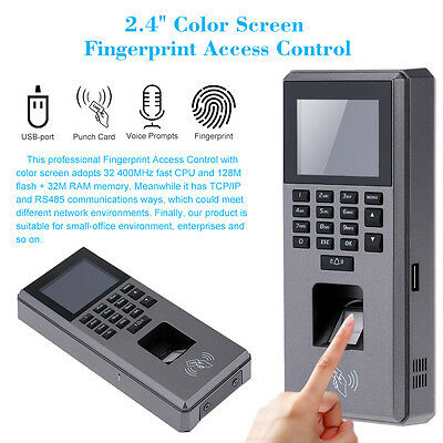 "2.4"" LCD Screen Fingerprint & Keypad Door Access Control Time Attendance Device"