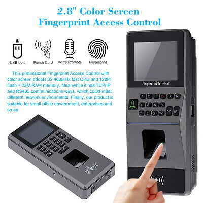 Fingerprint Access Control System TCP/IP RS485 Attendance Machine RFID Redader