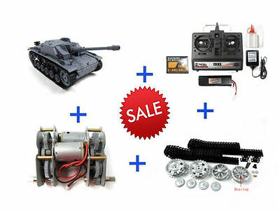 Henglong  2.4G 1:16 R/C S&S Stug Ausf F/8 III Tank (Airsoft) with Metal Upgrades