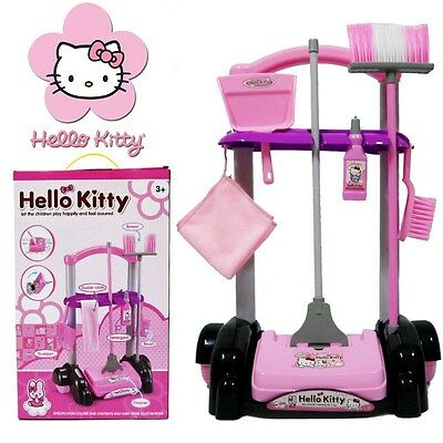 Kids Childs Housekeeping Cleaning Tools Trolley Kit Pretend Play Set Cleaner Toy
