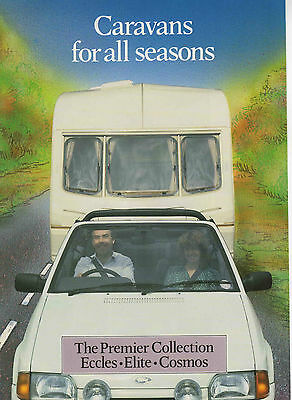 CI CARAVAN BROCHRE - ECCLES, ELITE, COSMOS, approx 1987. UK POST FREE