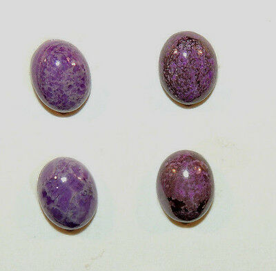 Sugilite Cabochons 8x10mm with 4.5mm dome set of 4 from South Africa  (9551)