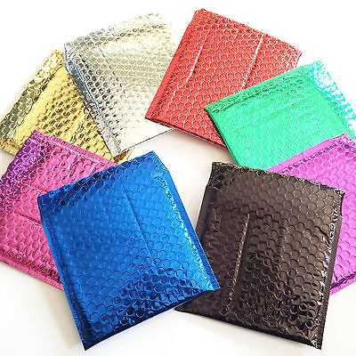 Bubble Lined Metallic Foil Padded Mailing Envelopes Bags Various Colours