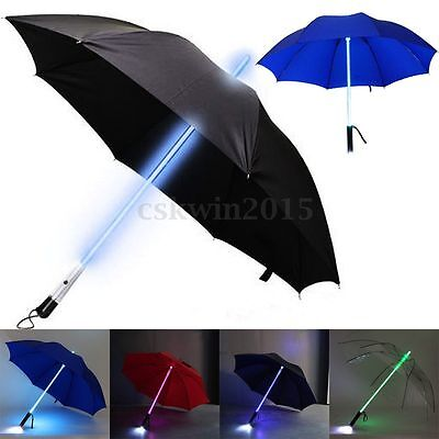 Multi-color Fashion Light LED Flash Umbrella Night Protection Children Xmas Gift
