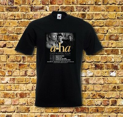 A-ha Cast in Steel Tour T Shirt New Many Colours