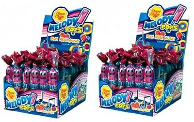 Bulk Lot 96 x Chupa Chups Melody Pops 2 Boxes Strawberry Lollies Sweets Candy