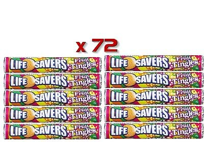 Bulk Lot 72 x Life Savers Fruit Tingles 2 Boxes 34g Buffet Sweets Candy Lollies