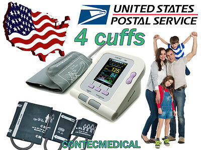 Digital color LCD Blood Pressure Monitor Pediatric/ Adult+PC software,home care