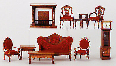 Dollhouse miniature victorian formal parlor living room set for 10 piece living room set
