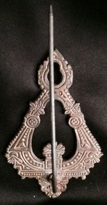 Antique Vintage Metal Ornate Victorial Bill Receipt Letter Paper Spike Wall Hook