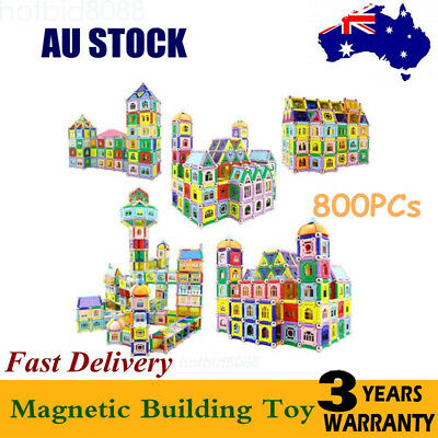 800pcs Magnetic Construction Educational Building Child Kids Gifts Toys Blocks
