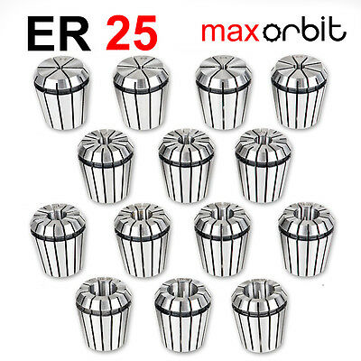 15 PC ER25 Milling Spring Collet Set 2-16mm CNC Mill Latch Machine Chuck