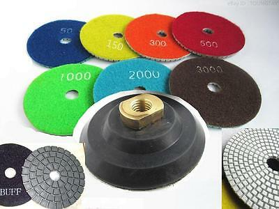 Diamond Polishing Pads 4 inch Wet/Dry 255 Piece Granite Stone Concrete Marble