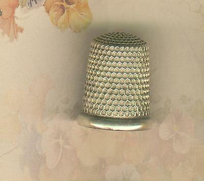 Size 9 Sterling Silver Simmon's Thimble