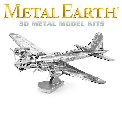 Fascinations Metal Earth B-17 Flying Fortress WWII Bomber Laser Cut 3D Model