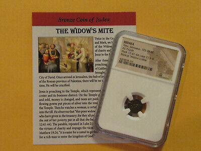 """""""NGC Widows Mite"""" 2000 year old coin, Bible story gift for religion, Christian"""