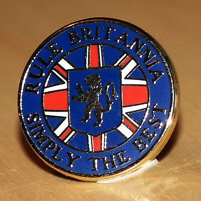 Rule Britannia - Simply The Best - Rangers - Football Pin Badge