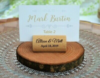 1-400 Wine Cork Personalized Place Card Holders for wedding or special occasion