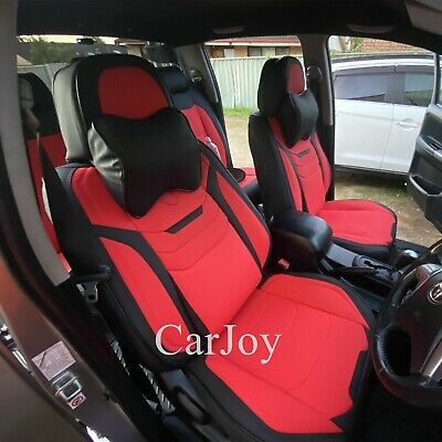 Burgundy Car Seat Cover Waterproof Mitsubishi Triton Asx Outlander Front & Rear