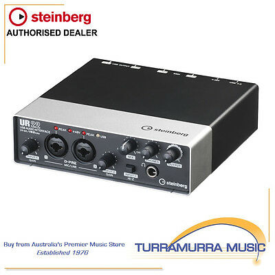 Steinberg UR22 mkII USB Recording interface with MIDI and Cubase AI software
