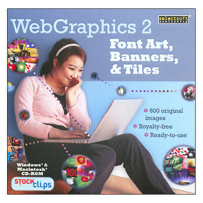 Web Graphics 2 - Font Art, Banners, And Tiles - Pc/Mac - Free Post - Brand New