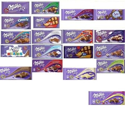 3 x MILKA  Alpina Milk Chocolate Bar 22 Different Flavors fresh from Germany NEW