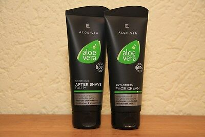 LR Aloe Vera Men Set After Shave Balm +  Anti Stress Creme Aktion