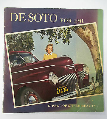 DE SOTO For 1941, 17 Feet of Sheer Beauty Advertising Book