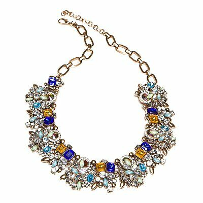 Multi Coloured Jewel Encrusted Necklace