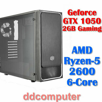 AMD Ryzen5 2600 6-Core Compute GTX 1050 Gaming Graphics 8GB RAM 1TB HDD PC