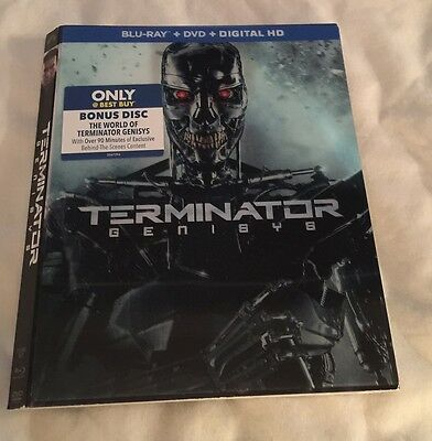 Terminator: Genisys Best Buy EXCLUSIVE 3D Lenticular BLU-RAY SLIPCOVER ONLY