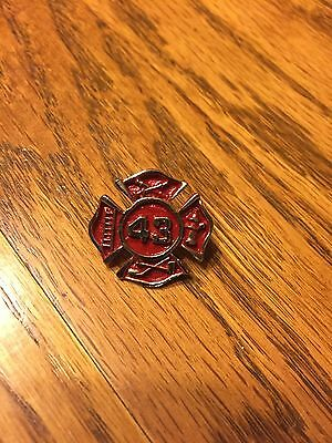 Firefighter Hook & Ladder Pin # 43 , Old / New !