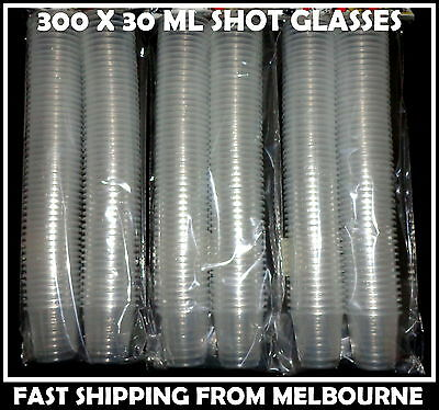 Bulk Lot 300 X Clear Disposable 30 Ml Plastic Shot Glasses 30 Ml Aussie Seller