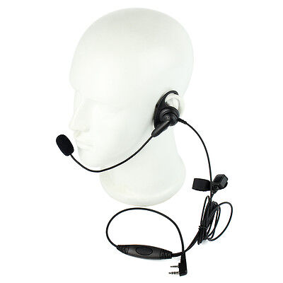 2-PIN Earpiece Headset with Boom Mic finger PTT For KENWOOD BAOFENG WOUXUN Radio
