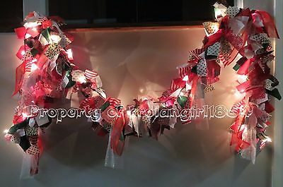 HOLIDAY FABRIC LIGHT GARLAND - CHRISTMAS - 9FT Long