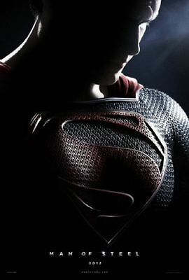 Superman:Man Of Steel Advance A Double Sided Original Movie Poster 27x40 inches