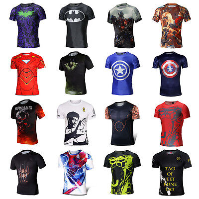 Marvel Superhero Casual Comics Costume Cycling Tee T-Shirts Bruce Jersey