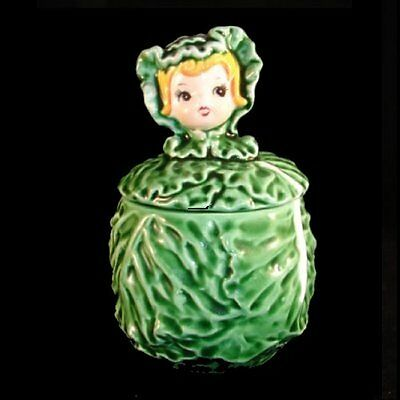 Vintage LEFTON Sugar Cissy Cabbage Cuties Pixie Girl Jar - CUTE!