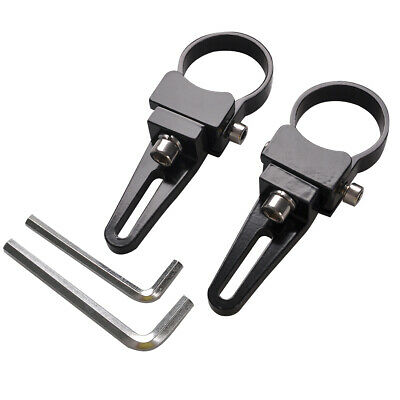 """2X 1.5"""" inch 38mm Bull Bar Roll Cage Tube LED Light Mount Brackets Clamp offroad"""